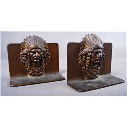 Indian Chief Bronze Book Ends…