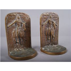 End of Trail Bronze Book Ends…