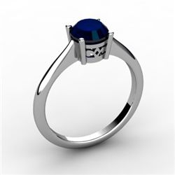 Sapphire 1.05 ctw Ring 14kt White Gold