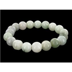 200ct Green Jade Bead Bracelet (JEW-2204)