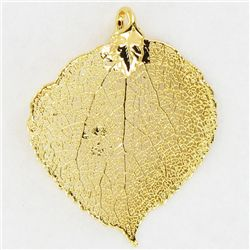 Gold Filled Aspen Leaf Pendant (JEW-3875)