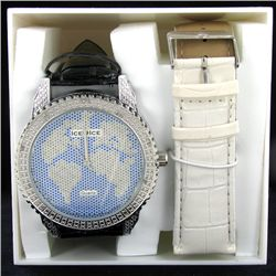 New Ice Time Mens Diamond Bezel Watch (WAT-341)