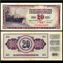 1978 Yugoslavia 20 Dinara Circulated Note (CUR-06670)
