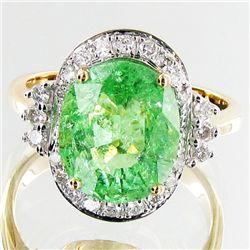 4.3ct Copper Tourmaline/Dia. 14k Ring Appr $54k (JEW-3141)
