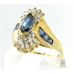 2.6ct Ceylon Blue Sapphire & Diamond 10k Ring (JEW-1470)