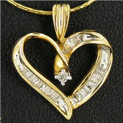 9.65twc Diamond 10k Gold Heart Pendant (JEW-3379)