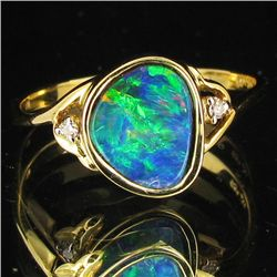 11.85twc Opal Diamond 14k Gold Ring (JEW-3406)