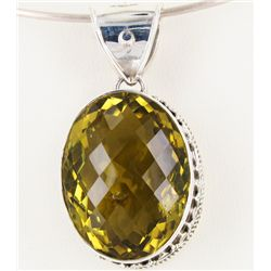 190twc Lemon Citrine Sterling Pendant (JEW-3362)