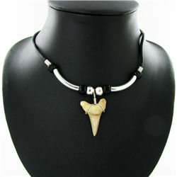 Shark Ivory Choker Necklace (JEW-2951)