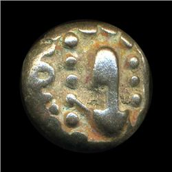 Ancient India Tanjore Nayak Copper Coin VF+ Ty 2 (COI-5788)