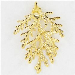 Gold Filled Cypress Needle Pendant (JEW-3878)