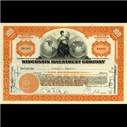 1930s Wisc. Investment Co. Certificate Orange SCARCE (CUR-06622)