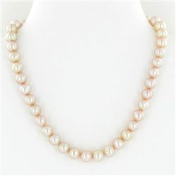 Rare Peach Saltwater Pearl Necklace (JEW-250H)