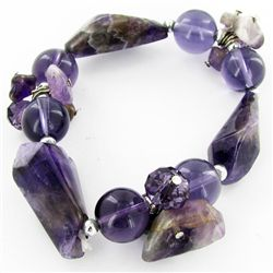 200twc Natural Amethyst Crystal Bracelet (JEW-3454)