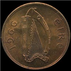 1966 Ireland 1/2p MS64+ (COI-10165)