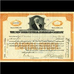 1927 NY Central Railroad Stock Certificate pre-Depression (CUR-06632)