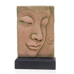 Excellent Hand Cast Sandstone Buddha Face (CLB-375)