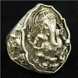 Tibet Nickel Ganesh Ring (JEW-3881)