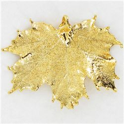 Gold Filled Maple Leaf Pendant (JEW-3873)