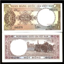 1962 Vietnam 1 Dong Crisp Uncirculated Note (COI-3929)