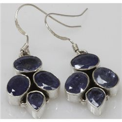 Natural 7.85g Tanzanite Earrings .925 Sterling Silver