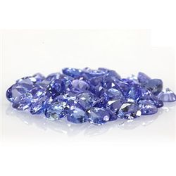 Natural Tanzanite Zoisite Oval-Pear Cut 55 pcs19.40 ctw