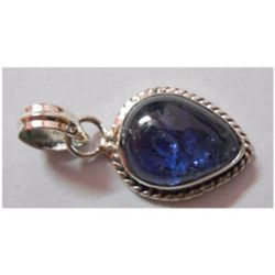 Natural 18.40 ctw Tanzanite Pendant 925 Sterling