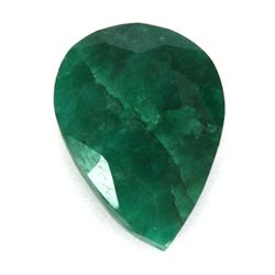 African Emerald Loose Gems 60.76ctw Pear Cut
