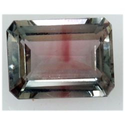 Natural 10.33ctw Bi-Color Tourmaline Emerald Cut Stone