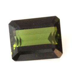 Natural 5ctw Green Tourmaline Emeral Cut 9x11 Stone