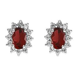 Genuine 2.38 ctw Garnet Earring 14k 2.1g