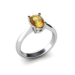 Genuine 1.25 ctw Citrine Ring 14k W/Y Gold