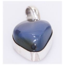 NATURAL 35.70 CTW CALCEDONIA PENDANT .925 STERLING SIL