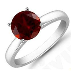 Garnet 5..01 ctw Solitaire Ring 14kt W/Y Gold