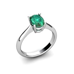 Genuine 2.20 ctw Emerald Ring 14k W/Y Gold