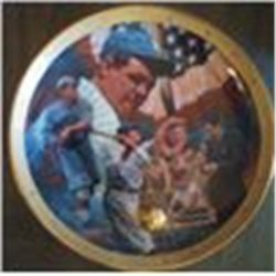 BABE RUTH ROYAL DOULTON COLLECTOR PLATE FRANKLIN MINT #HA5822 MIB