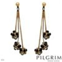 Gorgeous Dangle Earrings with Genuine Crystals.  From Denmark. NWT