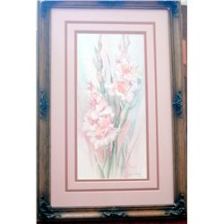 "LTD ED ARTIST SIGNED PRINT ""PASTEL REFLECTIONS"" BY BARBARA MOCK   867/1950  COA INCLUDED 2ND OF PAIR"