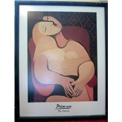 "FRAMED PICASSO PRINT/POSTER ""THE DREAM"" 30"" X 24"""