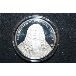 Sterling Silver Round; Sir William Blackstone-American Judicature Society; To Promote the Efficient