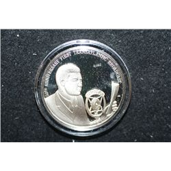 Sterling Silver Round; 50th Anniversary of First Transatlantic Broadcast; Pittsburgh to London; .925
