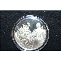 America's Bicentennial Celebration Sterling Silver Round; Chicago IL-1776 Immirants took the oath to