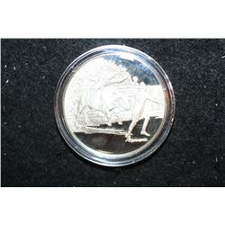 America's Bicentennial Celebration Sterling Silver Round; Greeley CO Rodeo was the Theme in The Gree