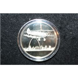 America's Bicentennial Celebration Sterling Silver Round; St. Louis MO Jet Planes & Fighter Planes p