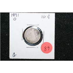 1891-O Seated Liberty One Dime; G