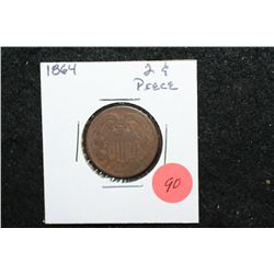 1864 Shield Two Cents Piece