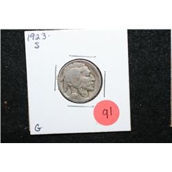 1923-S Buffalo Nickel; G