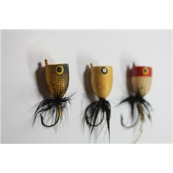 "2"" Pic Chick, Unmarked Lure, & 3 1/2"" Metal Lure"