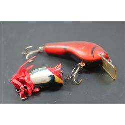 "3 3/4"" Red/Black Unmarked lure & Red/Black/Yellow Unmarked Lure"