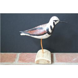 Ruddy Twinstone Carved Shore Bird
